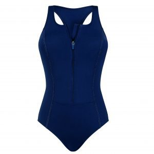 Key West Zip Front Navy Swimsuit by Amoena
