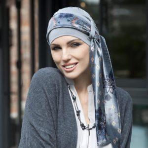 Yanna Headwear Grey Velvet