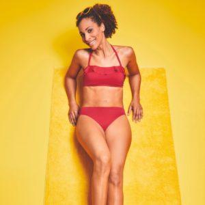 Malta Non-wired UV Protected Bikini Top – Dark Red
