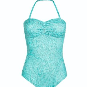 California One-Piece Multiway Swimsuit – Aqua / white (71372)