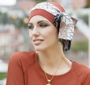 Silk Scarf Sandy Foglia by Masumi Headwear