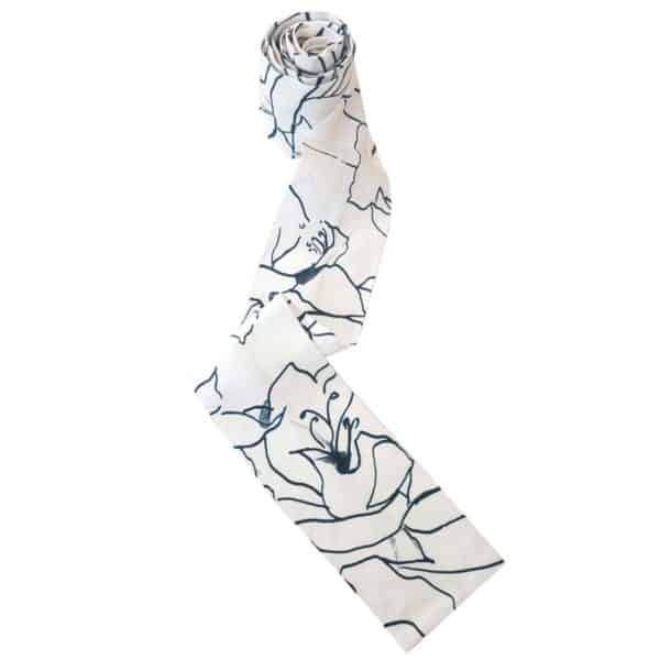 Headscarf for women with hair loss with flower print.