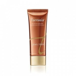 Tube of self tanner with lightweight texture for women.