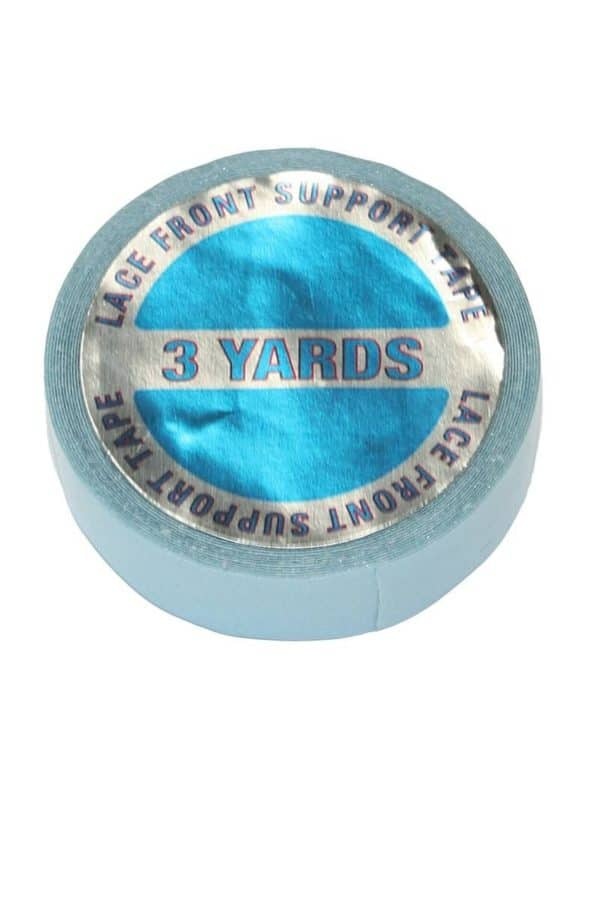 A blue double sided tape to secure any hair system.
