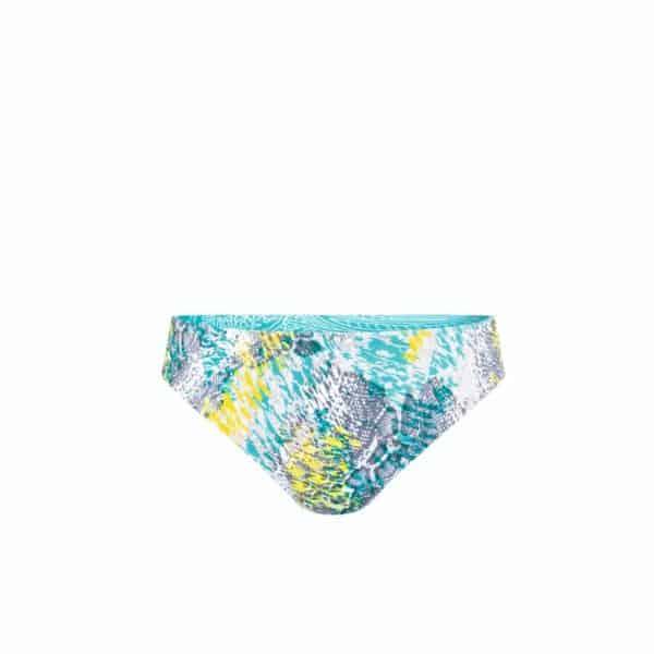 California bikini bottoms yellow aqua.