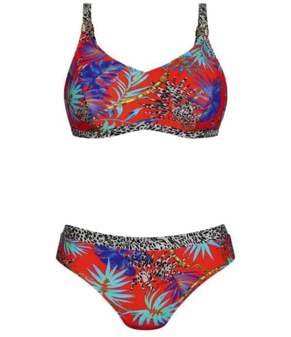 Pocketed post mastectomy bikini