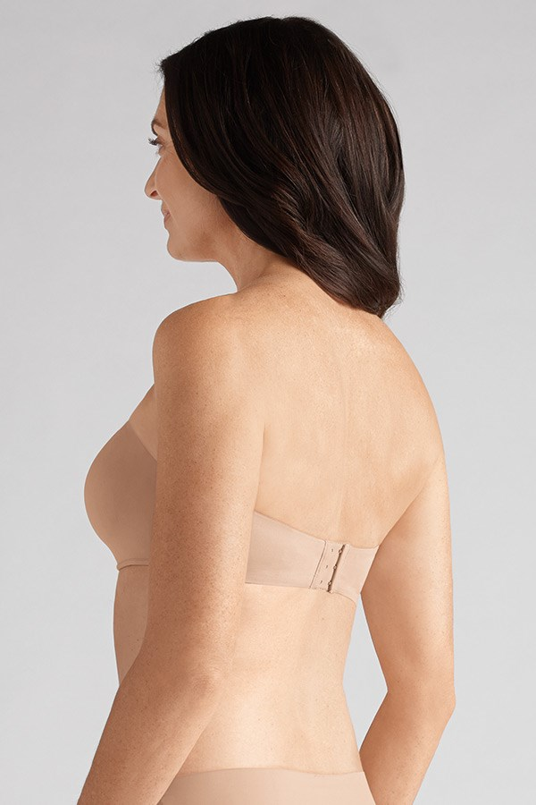 barbara strapless mastectomy bra nude back
