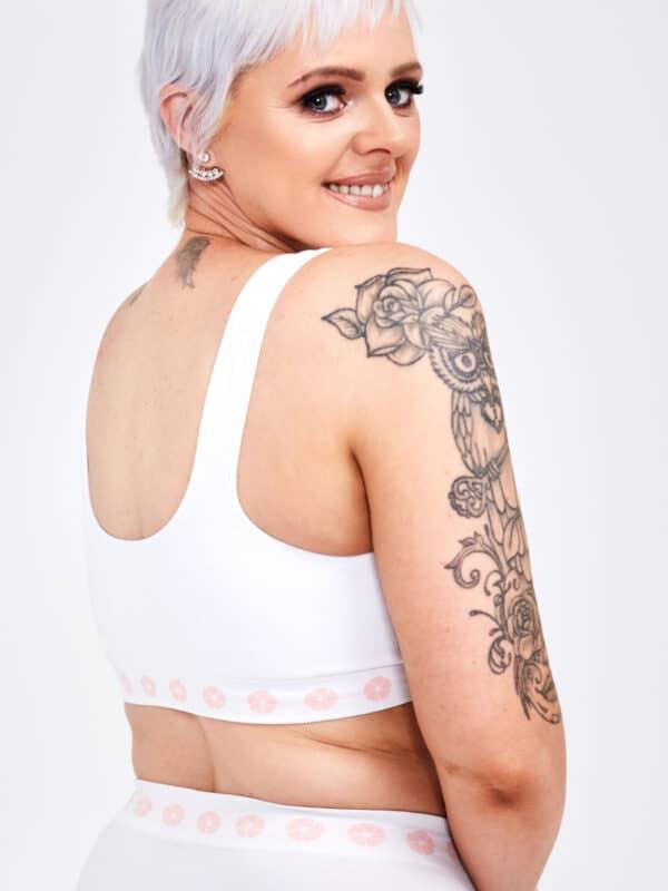 peony mastectomy front opening bra back